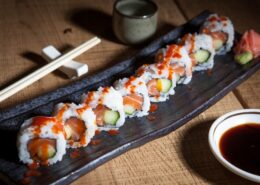 SPICY SALMON CUCUMBER MAKI